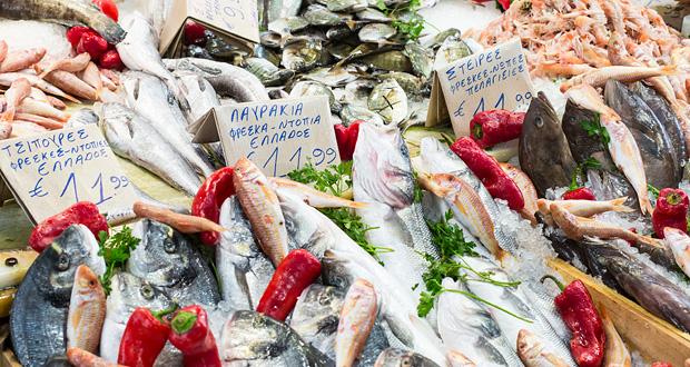 Marknad fisk